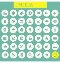 Big UI UX and Office icon set vector image