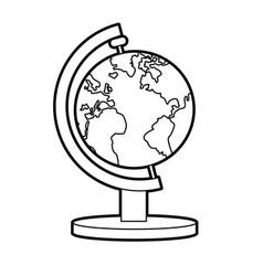 School globe atlas map geography vector