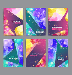 Abstract fashion posters business card set vector