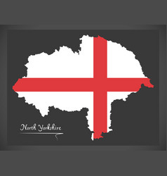 North yorkshire map england uk with english vector