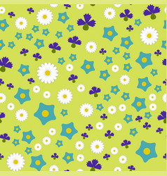 Nature spring flower wreath colorful vector