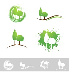 Landscape abstract design vector