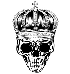 Skull in crown vector