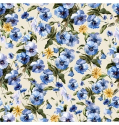 Blue flowers 5 vector