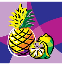pineapple lime vector image