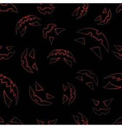 Scary faces of Halloween pumpkin vector image