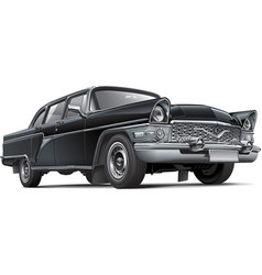 Soviet luxury car vector