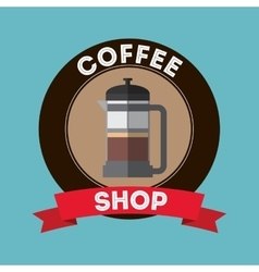 Coffee drink shop design vector