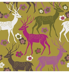 Deer forest background vector