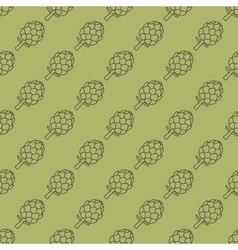 Artichoke green seamless pattern vector