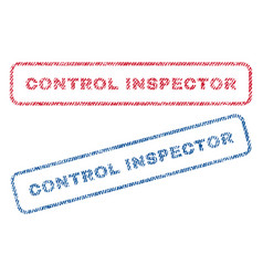 Control inspector textile stamps vector