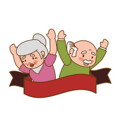 couple elder adults banner vector image