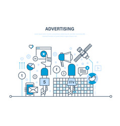 Digital advertising marketing media planning vector