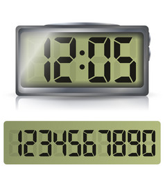digital alarm clock classic digital clock vector image vector image