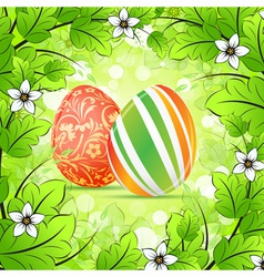 Easter Frame Background vector image