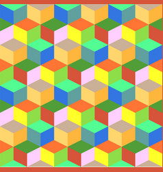 Geometric colorful cube background vector