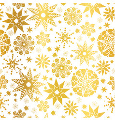 Golden abstract doodle stars seamless vector