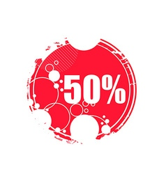 Grunge sale tag vector image vector image