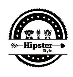 Hipster animal design vector