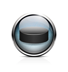 hockey puck icon vector image vector image