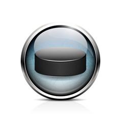 Hockey puck icon vector
