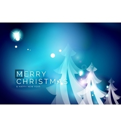 Holiday blue abstract background winter vector image vector image