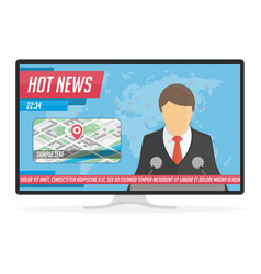 Hot news on tv vector