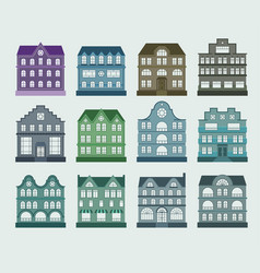 House architecture set vector