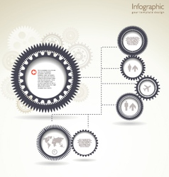 Infographic gear template design vector