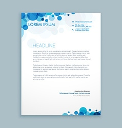 letterhead creative template vector image vector image