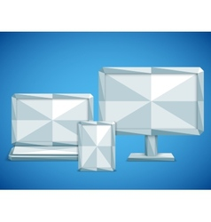 Low Poly Electronic Devices vector image