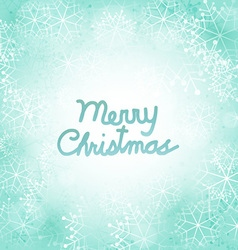Merry Christmas Snowflakes Background vector image vector image