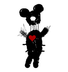 Mickey mouse punk edition vector
