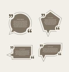 Quote mark speech bubbles set vector