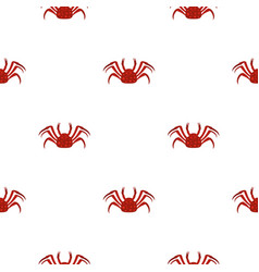 Red alaska crab pattern seamless vector