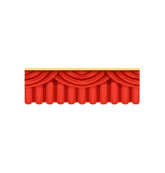 red silk or velvet pelmets for theater stage vector image