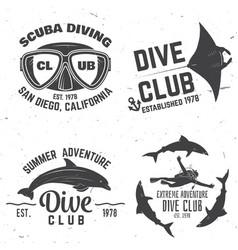 scuba diving club vector image