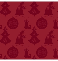 Seamless pattern with christmas tree bell vector