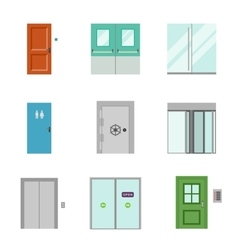 Set of doors icons vector image vector image