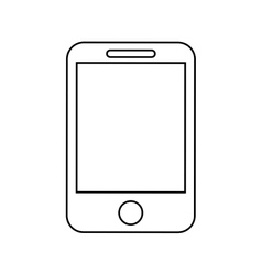 smartphone device isolated icon design vector image vector image