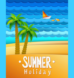 Summer holidays landscape vector