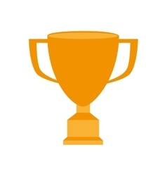 trophy win game champion isolated vector image