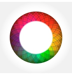 Abstract digital color round frame vector
