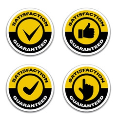 Satisfaction guaranteed stickers vector