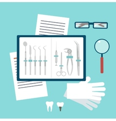 toolset dentist vector image