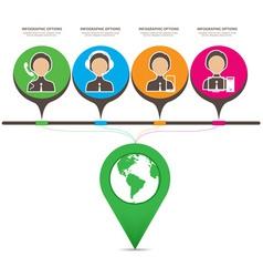 Global information infographics vector