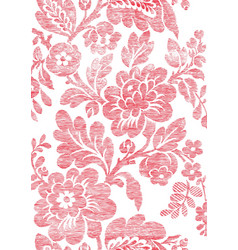 5 Abstract hand-drawn floral seamless pattern vector image