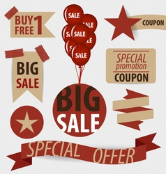 Sale coupon voucher tag vintage style template vector