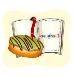 Donut with green frosting vector