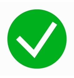 Green tick check mark icon simple style vector image